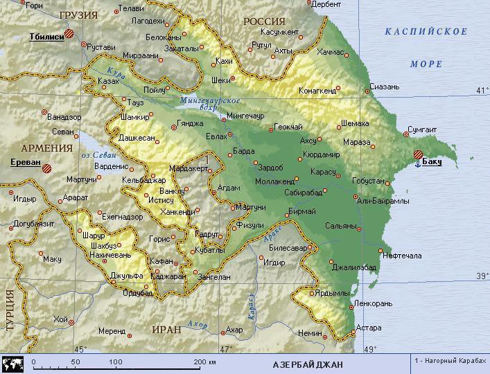 Карта смотреть карта азербайджана с
