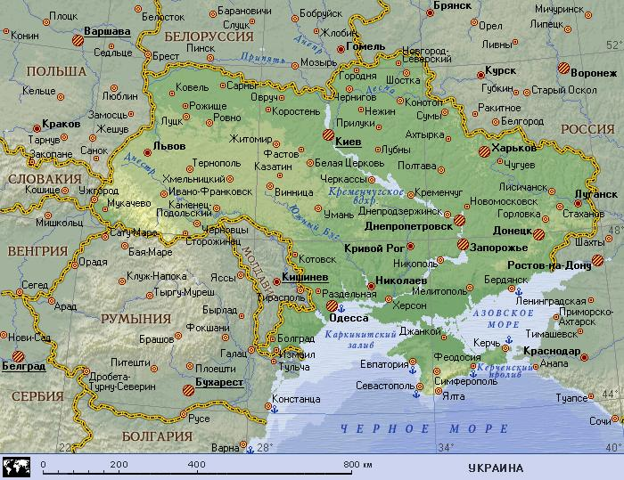 Карта Украины